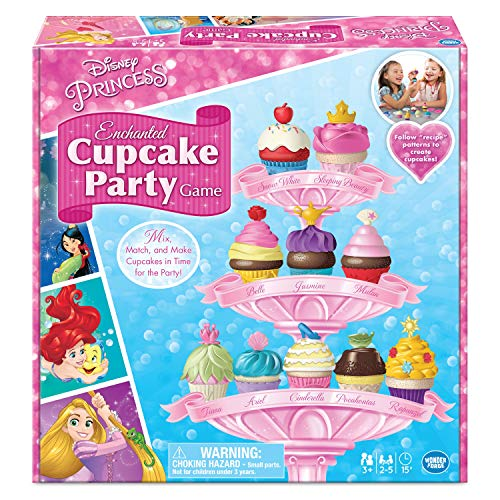 Wonder Forge Disney Princess Enchanted Cupcake Party Game For Girls  & Boys Ag