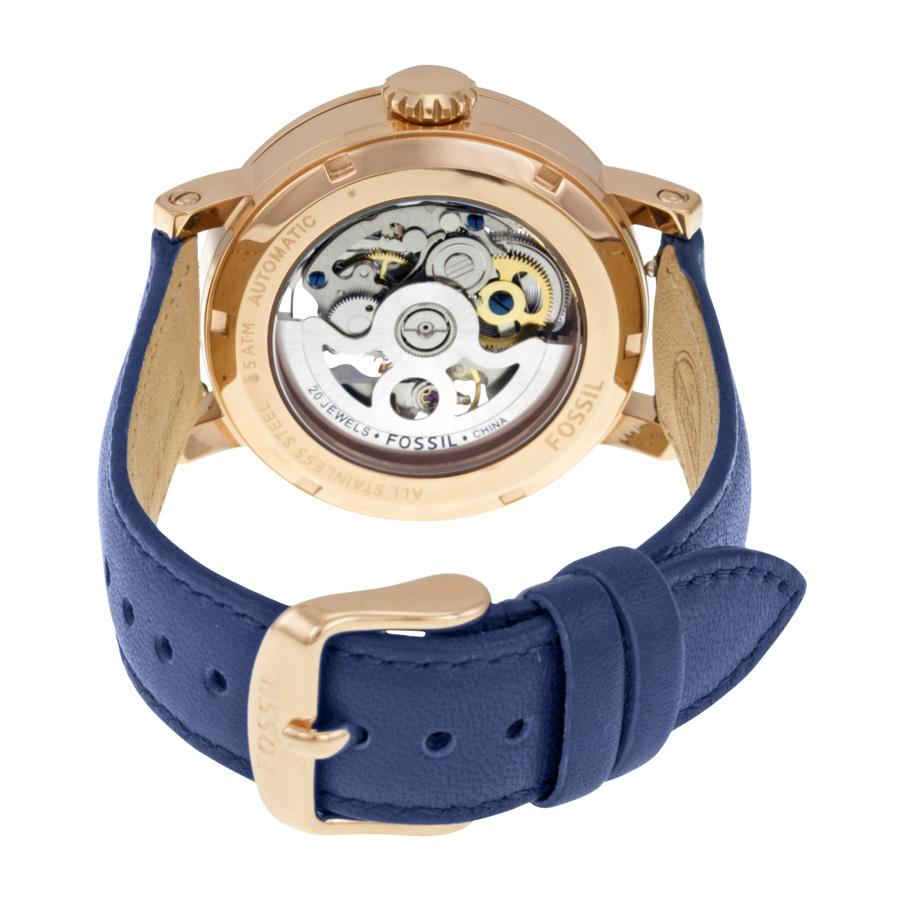 FOSSIL Boyfriend Automatic Navy Blu (end 6 23 2017 12 15 AM) 852b21e218