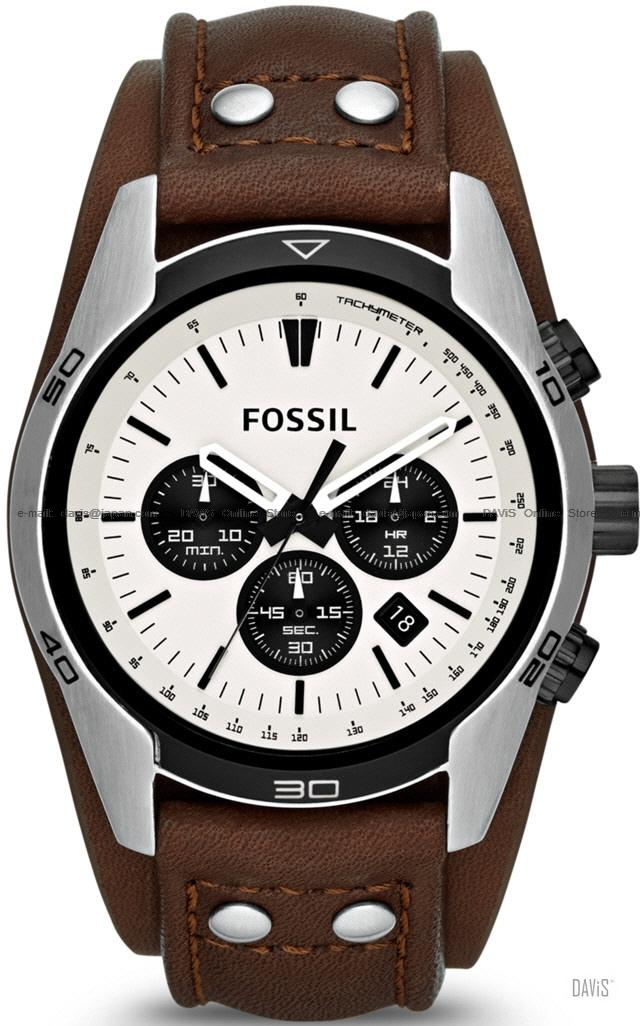 FOSSIL CH2890 Men's Analogue Coachman Chronograph Leather Strap Brown