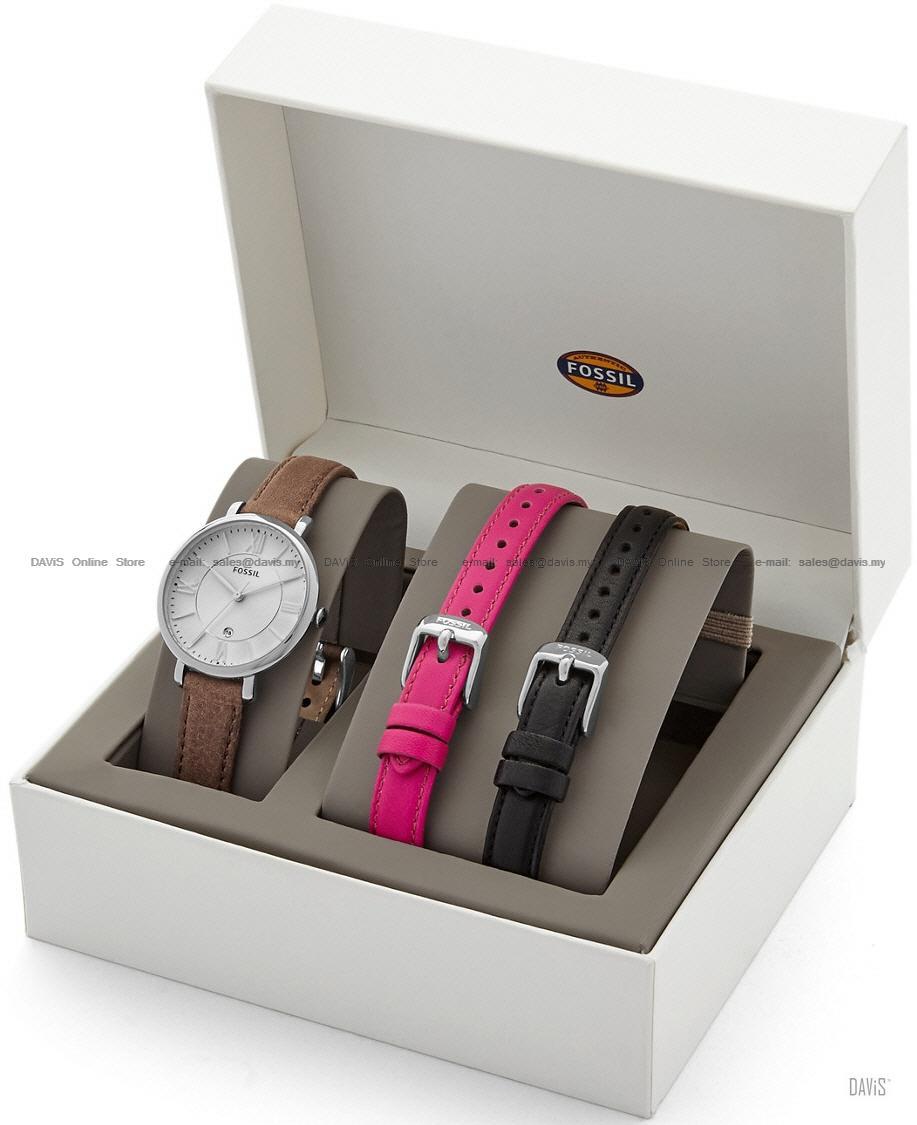 Fossil Es3869set Womens Jacqueline End 9 30 2019 919 Pm Jam Tangan Wanita Original Es3734 Interchangeable Leather Watch Set