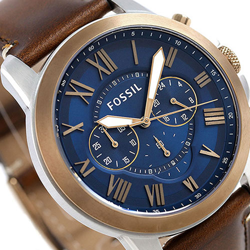 288c943e4c Fossil FS5150 Grant Men Chronograph Dark Brown Leather Watch