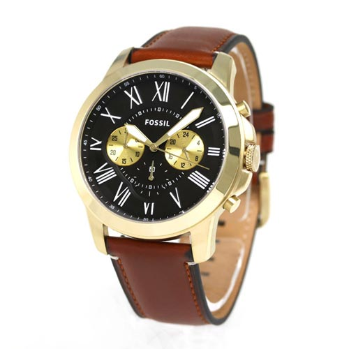 classic watches fossilstyle leather light on grant style images brown pinterest fossil mens chronograph watch best