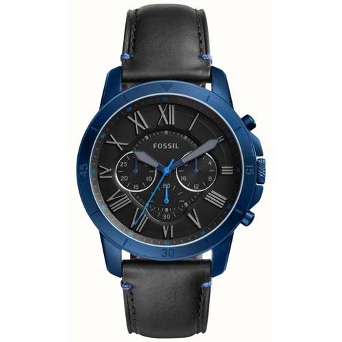 ebffa95cf3073 Fossil FS5342 Men Grant Sport Chronograph Black Leather Watch. ‹ ›