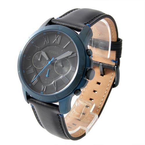 5ebdcdaff84c9 Fossil FS5342 Men Grant Sport Chronograph Black Leather Watch
