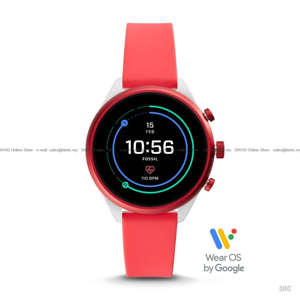 FOSSIL FTW6027 Sport Smartwatch HR Tracking GPS Swimproof Metallic Red