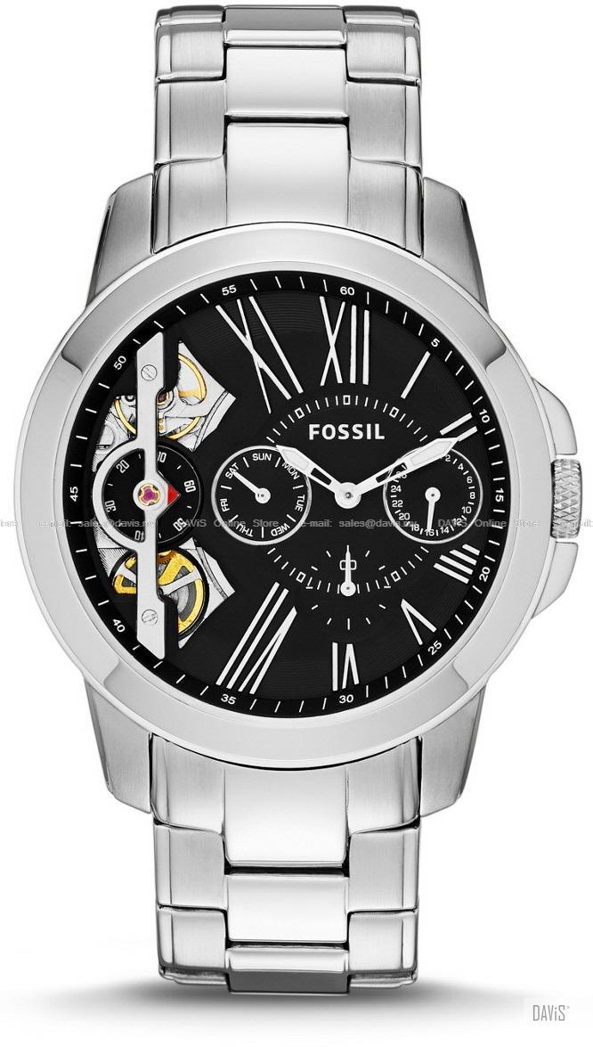 5a3656f2fb53 FOSSIL ME1145 Men Grant Twist Multifunction SS Bracelet Black. ‹ ›