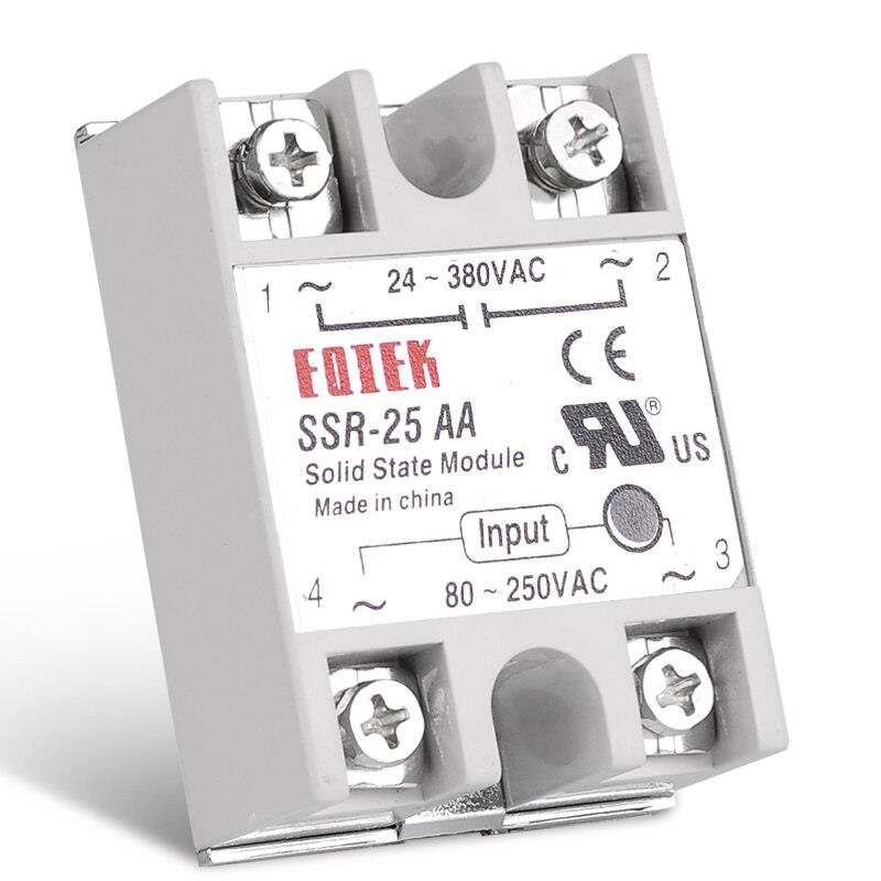 Fotek 25A AC to AC Solid State Relay SSR - 25AA