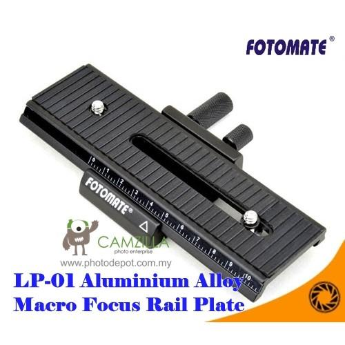 FOTOMATE LP-01 ALUMINIUM ALLOY 2-WAY MACRO FOCUSING RAIL PLATE