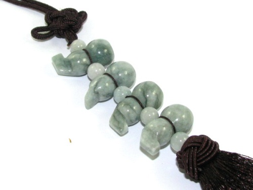 Four Jade Wu Lou Tassels for Good Health - Feng Shui Wulou, Hulu