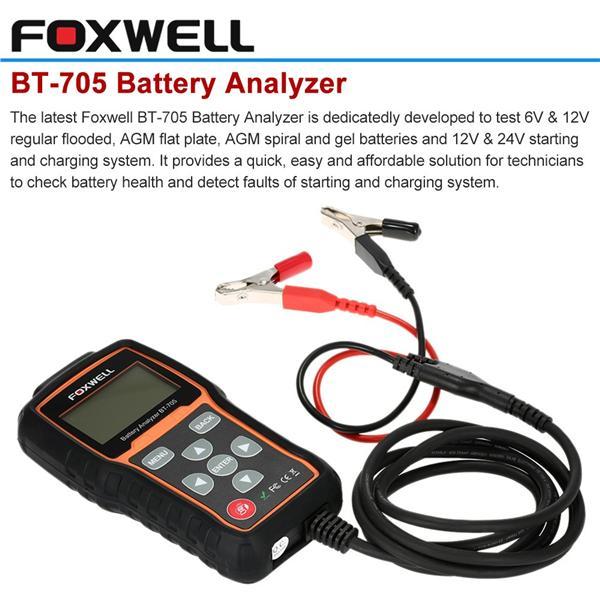 12V 24V Automotive Car Battery Tester Charging System Analyzer 2000CCA BT705 US