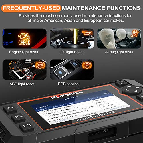 FOXWELL OBD2 Scanner NT624E All Systems Diagnostic Scan Tool, Check Engine ABS