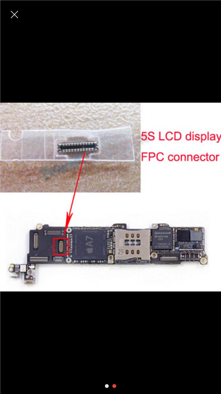 FPC Connector for iPhone 5S LCD Screen Display Flex FPC