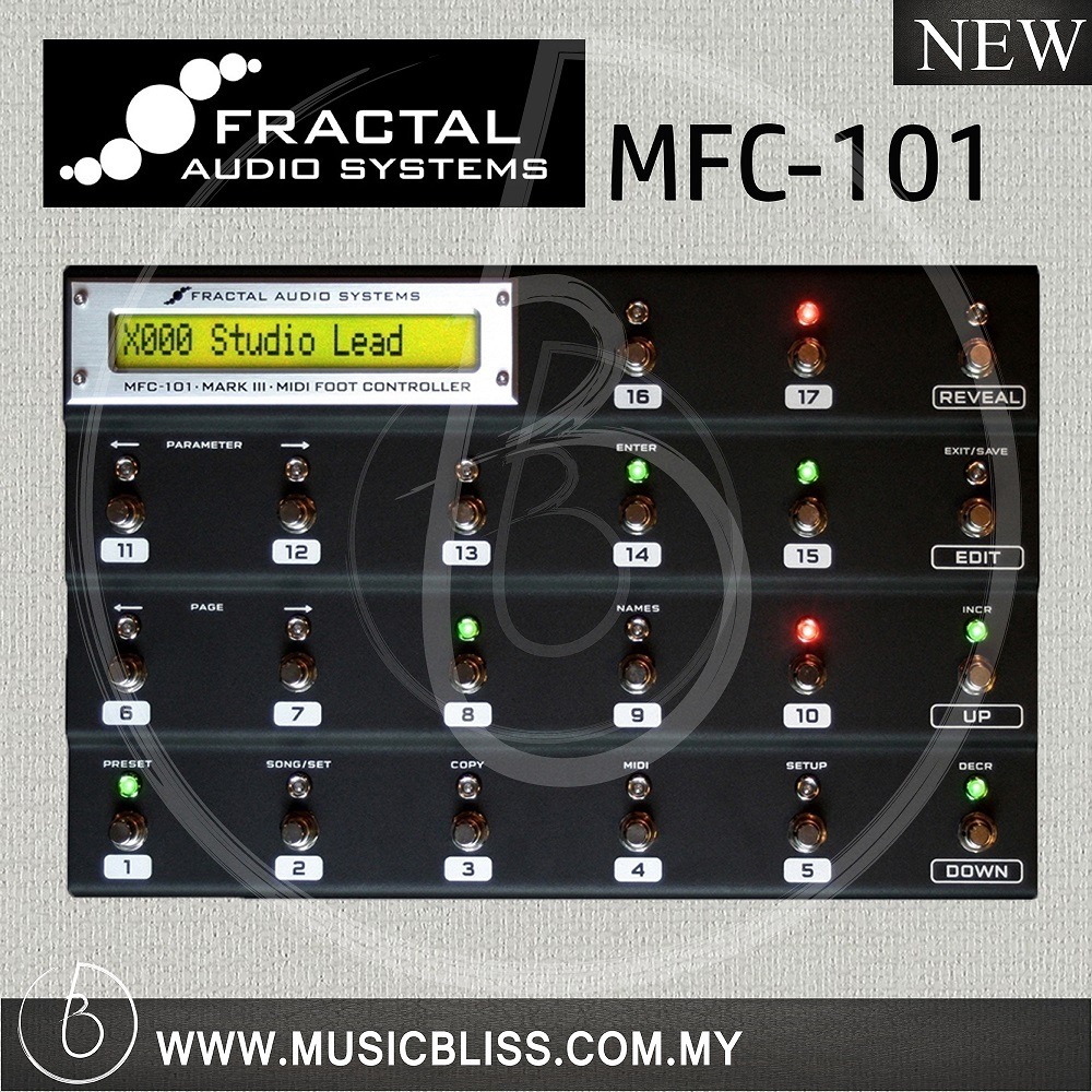 Fractal Audio MFC-101 Mark III MIDI Foot Controller for Axe FX