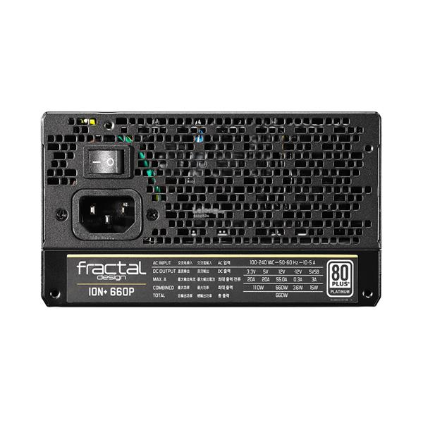 FRACTAL DESIGN 660W ION+ 80+ PLATINUM FULL MODULAR POWER SUPPLY