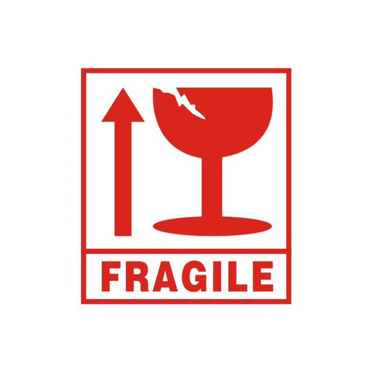 Fragile Stickers for Courier-10.5x9.5cm (12 pieces)