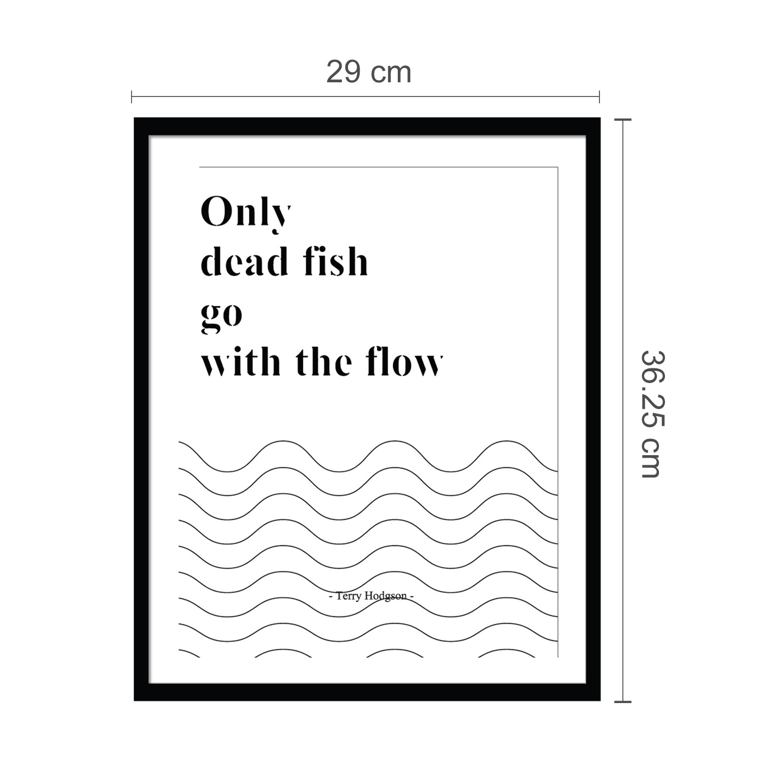 FRAME STICKER - FISH QUOTE. (end 8/13/2020 11:34 PM)