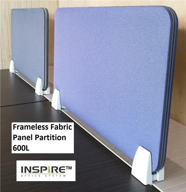 Frameless Fabric Panel Partition 600L x H300(mm) With Bracket
