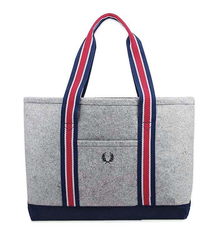 Fred Perry Tote Bag Uni Classic Sporty Shoulder Handbag