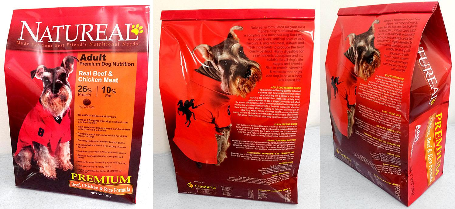 FREE 1KG WITH PURCHASE 3KG NATUREAL ADULT PREMIUM DOG FOOD