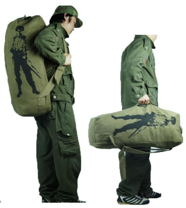 FREE BASE Hiking Camping adventure trail jungle canvas bag 3sizes