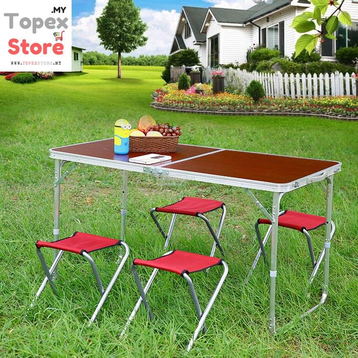 FREE CHAIRS Portable Foldable Aluminium Outdoor Table Camping Table Ca