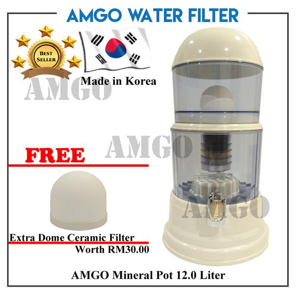 [FREE Dome Ceramic][KOREA] AMGO Mineral Pot Water Dispenser 12 Litre