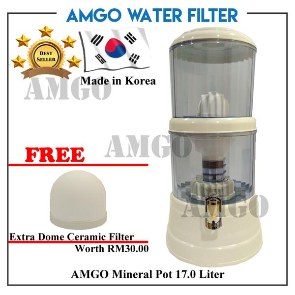[FREE Dome Ceramic][KOREA] AMGO Mineral Pot Water Dispenser 17 Litre