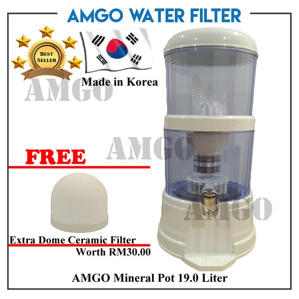 [FREE Dome Ceramic][KOREA] AMGO Mineral Pot Water Dispenser 19 Litre