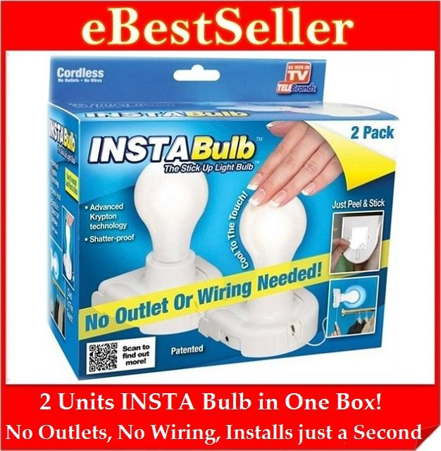 FREE GIFT 2 Units INSTA Bulb Stick Up LED Light Shatter-Proof StickUp