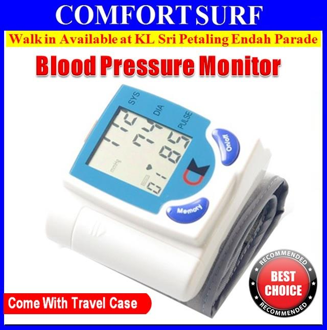 FREE GIFT + Digital Wrist Blood Pressure LCD Monitor Heart Beat Meter