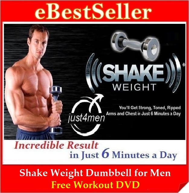 FREE GIFT + Workout DVD + Shake Weight Dumbbell Muscle Builder for Men