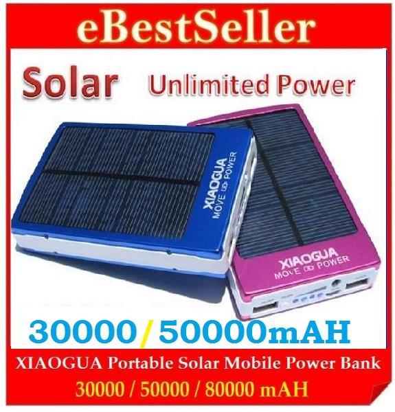 Solar power bank 50000mah