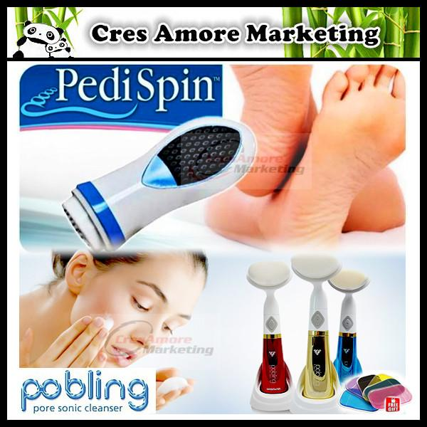 Free Gifts+ Pedi Spin Callus Remover+Pobling Pore sonic face cleanser