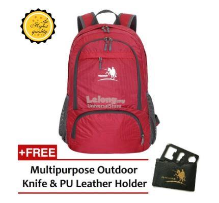 Free Knight 35L Waterproof And Foldable Backpack 0716 Red