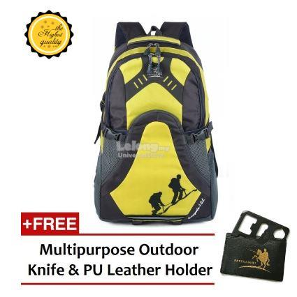 Free Knight 45L Hiking and Travel FK002 Backpack Yellow
