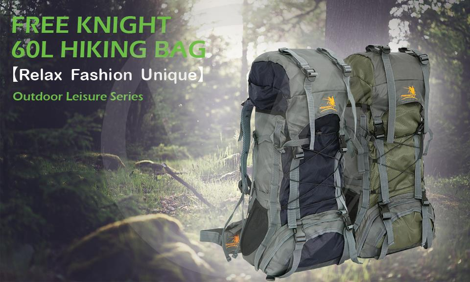 Free Knight Outdoor Hiking Climbing And Travel Nylon Backpack Bag 60L