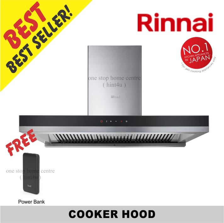 (Free Power Bank) Rinnai RH-C819-GB 90cm Chimney Hood