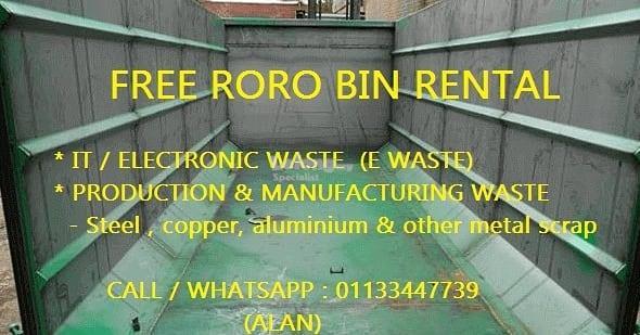 FREE RORO BIN RENTAL - RECYCLING