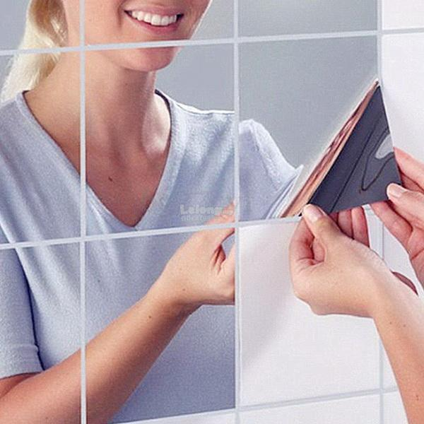 Free Shipping 16PCS Acrylic Square Mirror Wall Stickers