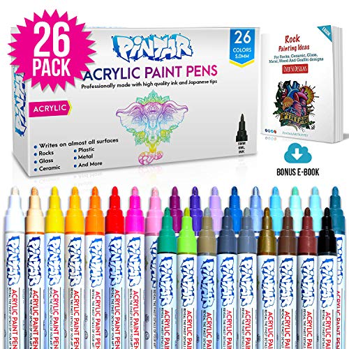 Free Shipping Acrylic Paint Markers For Rock Painting Stone Ceramic Glass Woo