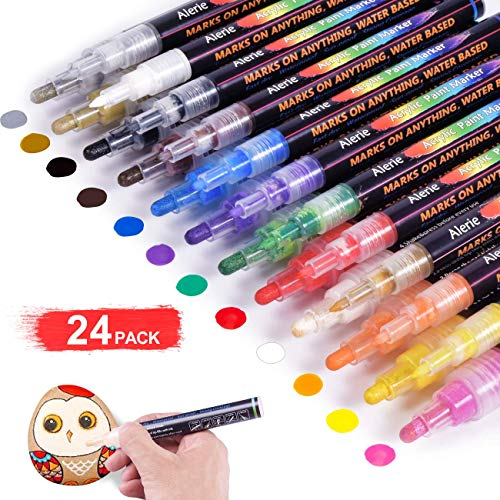 Free Shipping Acrylic Paint Pens 24 Acrylic Paint Markers For Rock Painting