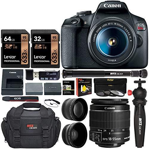 Free Shipping Canon Eos Rebel T7 Digital Slr Camera Travel Bundle Ef S 18 5