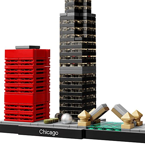 free shipping LEGO Architecture Chicago 21033 Skyline Building Blocks Set (444