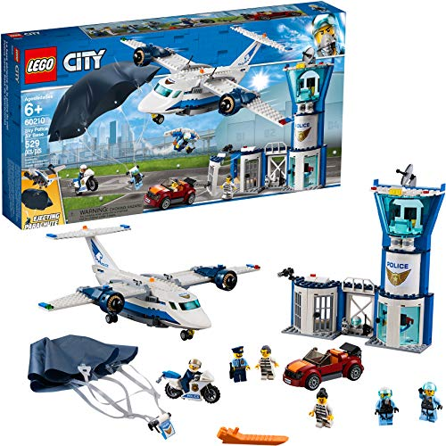 free shipping LEGO City Sky Police Air Base 60210 Building Kit (529 Pieces)