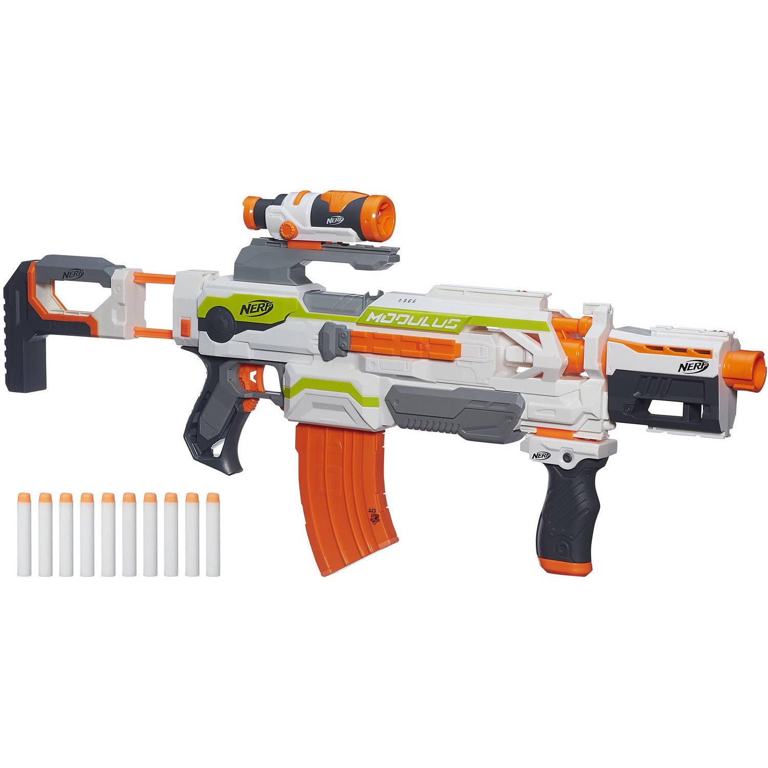 MODULUS CUSTOMIZER Build your own blaster for almost any battle or mission  with the. Nerf N-Strike Modulus ECS-10 blaster!