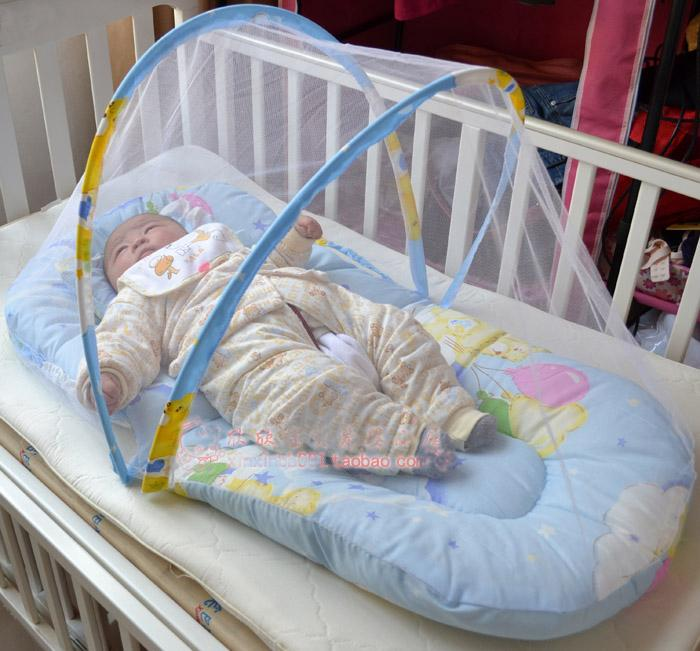 Free Shipping--Portable Baby Bed With The Mosquito Mesh
