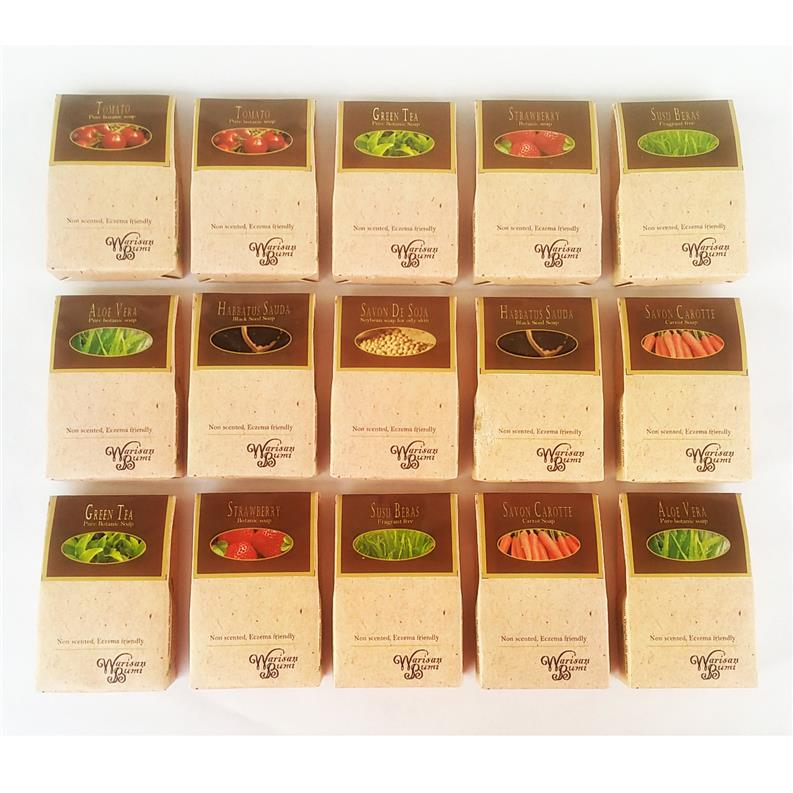 FREE SHIPPING Warisan Bumi Natural Soap Bar 5 pcs Set Castile & others
