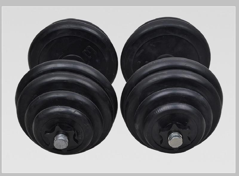 FREE SHIPPING NOW!!!NEW WEIGHT DUMBBELL/RUBBER/ DUMBELL- 20KG PER SET