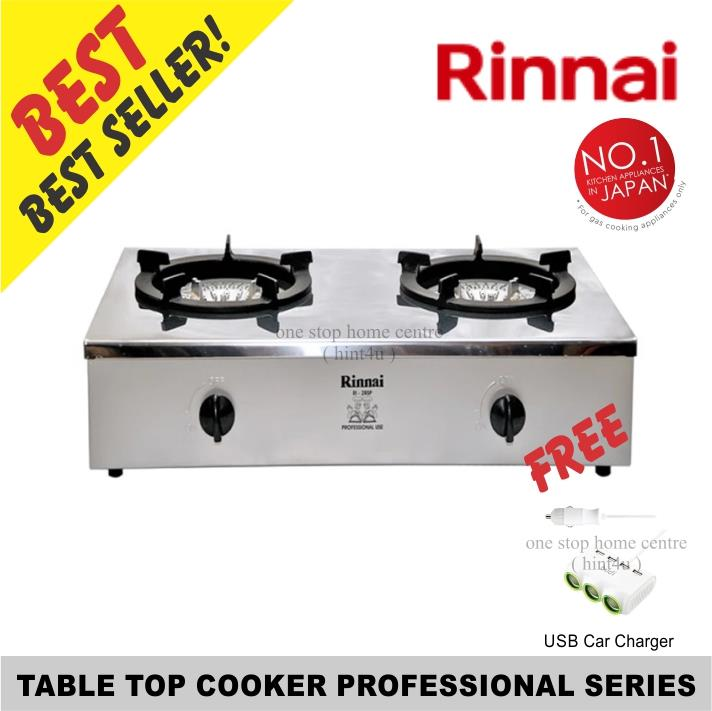 Free USB CarCharger)Rinnai RI-2RSP 75cm 2-Burner Table Top RangeCooker