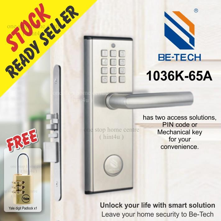 Free Yale Digit Padlock x1) BE TECH 1036K Digital Door Lock